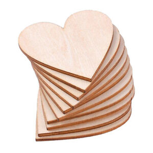 20pc Wood Cut Mdf Heart Shapes Bunting Craft Ornaments Chic Wedding Decors