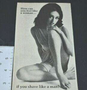 1969 Vintage Print Ad Neet Feel Like A Women Shave Like A Man Hair Remover Cream