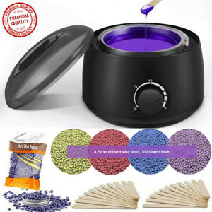 Professional Depilatory Hot Wax Heater Warmer Hair Removal Kit For All Wax Types