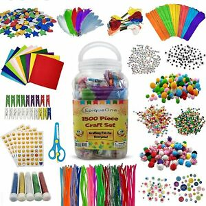 1500 Set Of Bulk Craft Accessories For Kids - Art Supplies For Children