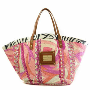 Emilio Pucci   Tote Bag With Logo Raffia