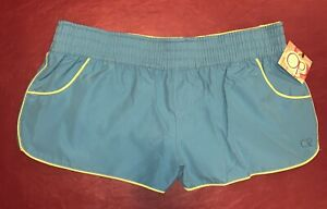 Op Women's Swim Suit Cover Up Turquoise Shorts Size M (7-9) Nwt