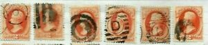 19th Century Us Stamps  Fancy Cancels  Lot # A - 68