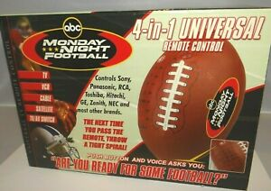 Nfl Monday Night Football 4-in-1 Universal Remote Control For Tv Television Nib