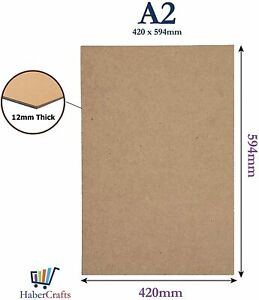 A2 Mdf Drawing Board Sketching Smooth Surface Artist 12mm Thick (420mm X 594mm)