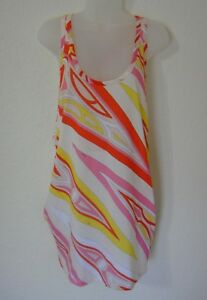 Emilio Pucci 100% Cotton Pocketed Racerback Tunic Top Size L