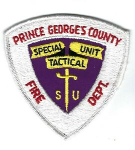 Prince George's Co. Md Maryland Fire Dept. Stu Special Tactical Unit Patch New!