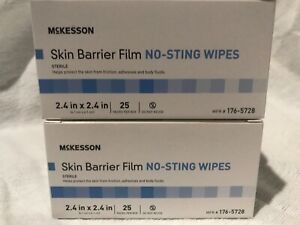 Mckesson - Lot Of 450 No-sting Skin Barrier Film Wipes 176-5728 18 Boxes Of 25