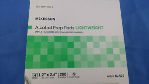 Alcohol Prep Pads Medium ~ Saturated Wipes ~  Individually Wrapped Sterile 200ct
