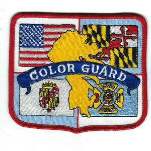 State Of Maryland Md Fire Department Honor Guard Patch - New! *clothback*