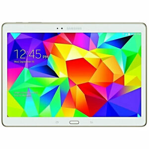 Samsung Galaxy Tab S Sm-t807v 16gb 10.5 Wifi 4g Lte Gsm Unlocked Verizon White