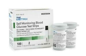 Discount! Mckesson True Metrix Blood Glucose Test Strips, Cs/1,200, #06-r3051-41