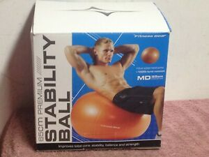 Fitness Gear ~ Premium Stability Ball (65cm) ~ With Pump ~ Orange ~ Nib