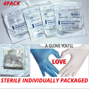Latex Disposable Gloves 4pack Individually Packaged-long