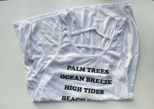 Xhilaration Palm Trees Beach Days Swimsuit Cover-up : White, Xl