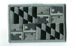 State Of Maryland Md Subdued Flag Patch (police/fire/ems) Swat/tactical - New!