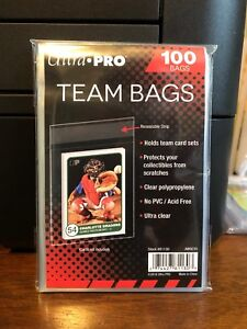 100 Ultra Pro Team Bags Sleeves 1 Packs Of 100 For Team Sets Or Toploaders