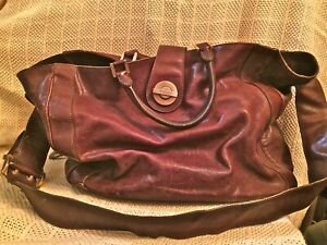 Vintage Emilio Pucci Bag Xl Purse Handbag Hobo Satchel Travel Brown Leather