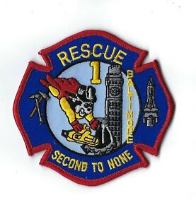 Baltimore City Md Maryland Fire Dept. Rescue 1