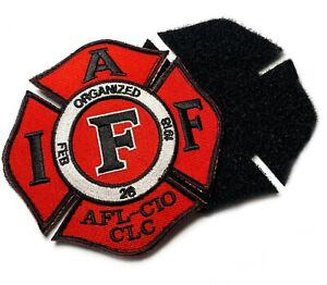 Authentic Red Iaff Firefighter Paramedic Union 3.5