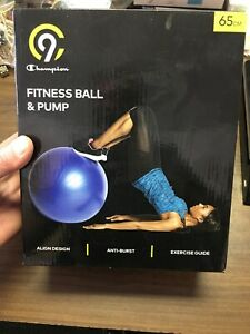 C9 Champion Exercise Fitness Ball And Pump 65cm Blue