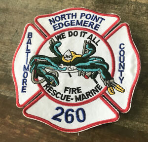 Northpoint Edgemere Baltimore County Md Fire Rescue Marine Patch (md Blue Crab)