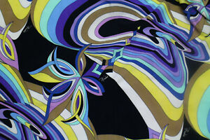 Authentic Emilio Pucci Firenze  Made In Italy Viscose Jersey Fabric Cm 230 X 140