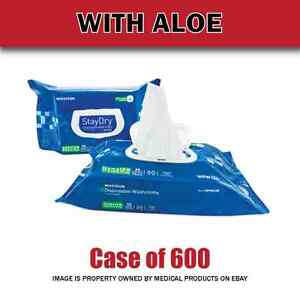 New - Personal Wipes Staydry® Soft Pack Aloe / Vitamin E Scented 100 Or 600 Ct