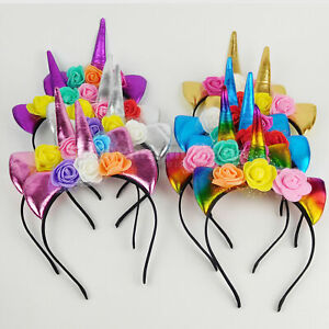 Unicorn Favors Headbands Unicorn Party Supply Girls Hair Accessories Unicornio12