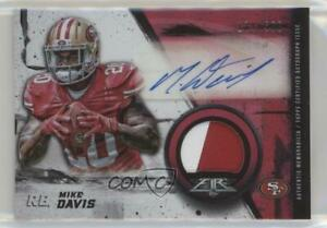 2015 Topps Fire Rookie /500 Mike Davis #frap-md Patch Auto