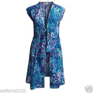 New $102 Miraclesuit Women's Upscale Swimsuit Cover Up Dress - Short Sleeve