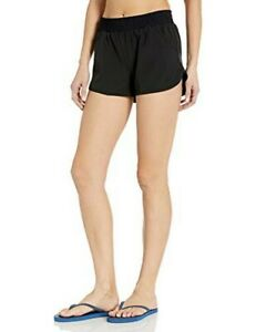 Tyr Women's Cover Up Layla Board Shorts Antimicrobial Lining Black Size Medium