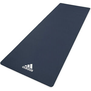 Adidas Universal Exercise Slip Resistant Fitness Yoga Mat, 8mm, Trace Blue