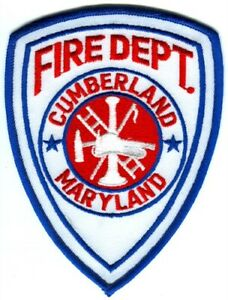 Cumberland Fire Department Patch Maryland Md