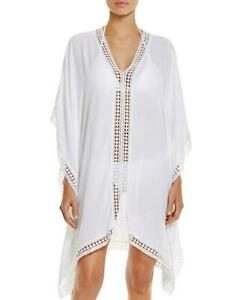 Nwt Tommy Bahama White Lace Trim Tunic Swimsuit Cover Up Xs