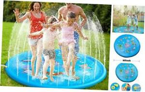 """Syolee Splash Pad 68"""" Sprinkler Play Mat Inflatable Water Toys Outdoor Swimming"""