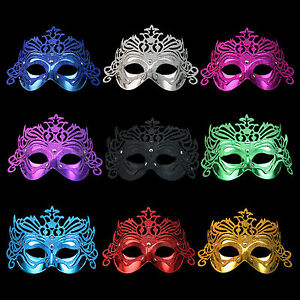 Lot Of 10pcs Crown Fancy Ball & Party Venetian Masks