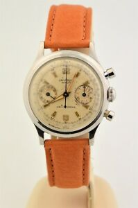 Vintage Men's Universal Geneve Uni-compax Chronograph Stainless Steel Cal 281