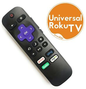 New Ir Universal Replacement Remote Compatible With Roku Tvs™