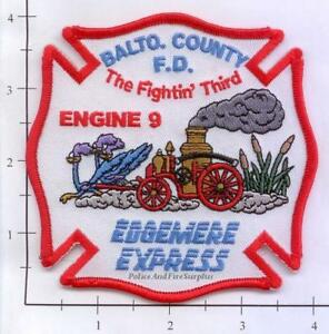 Maryland - Baltimore County Engine 9 Md Fire Dept Patch