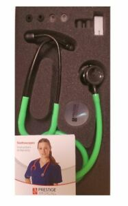 Medical Clinical Lite Stethoscope *stealth / Neon Green Model 121* Free Shipping