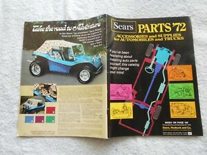 Sears Accessories & Supplies-for Automobiles & Trucks '72 Parts Catalog Vw Buggy