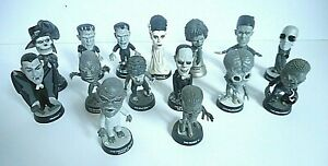 Universal Studios Monsters 2000 Sideshow Little Big Heads Silver Screen Edition