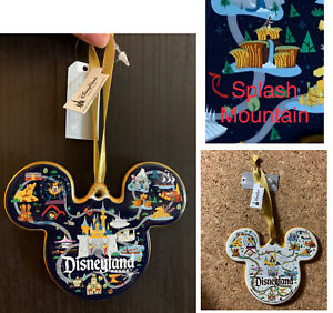 Disneyland Park Map Ornament- With Song Of The South Version Splash Mountain New
