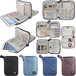 Bubm Pu Organizer Case For Ipad Iphone Samsung Cable Earphones Storage Carry Bag