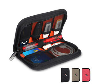 Bubm Usb Flash Earphone Cable Mp3 Accessories Storage Carry Case Organiser Bag