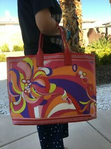 pucci Emilio Tote Bag (calf Leather)