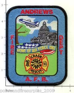 Maryland - Andrews Air Force Base Crash Rescue Md Fire Dept Patch Air Force One