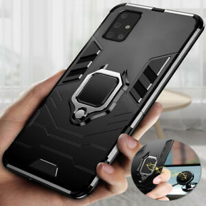 For Samsung A51 A71 A41 A20s A30s Shockproof Finger Ring Holder Stand Case Cover