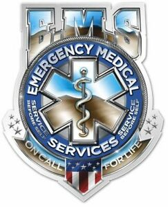 Ems Badge Emt Paramedic Sticker Decal (select Your Size)